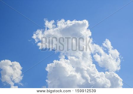 Blue sky with white cloud background for any design