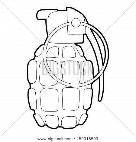 Hand grenade icon. Outline illustration of hand grenade vector icon for web