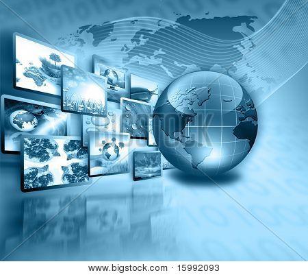 Mejor concepto de Internet del negocio global de la serie de conceptos