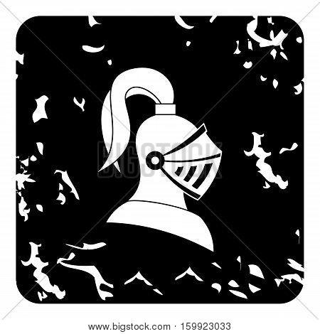 Medieval battle armor icon. Grunge illustration of medieval battle armor vector icon for web