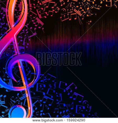 Music equalizer waves background, spectrum abstract illustration.