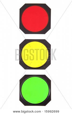 traffic lights concept isolated on white background