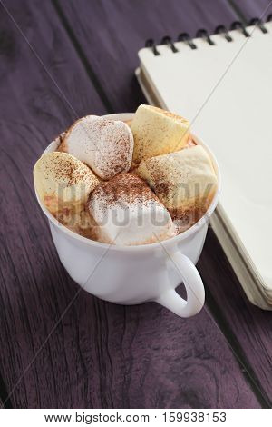 Marshmallows And Chocolate In A Cup, Notebook