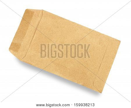 Old envelope open on a white background.
