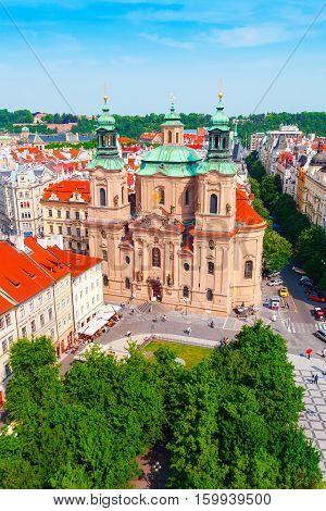 St. Nicholas Church, Old Town Square in Prague, Czech Republic