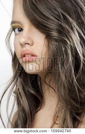 Beauty Portrait Of A Young Beautiful Teen Girl..