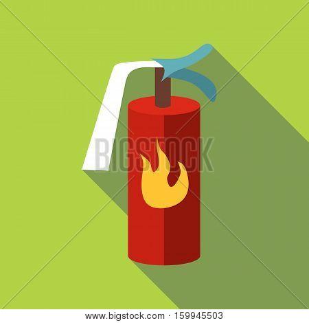 Fire extinguisher icon. Flat illustration of fire extinguisher vector icon for web