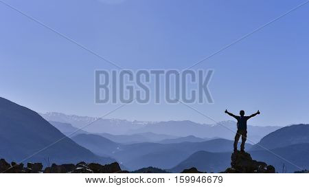 success of reaching the summit of the mountain