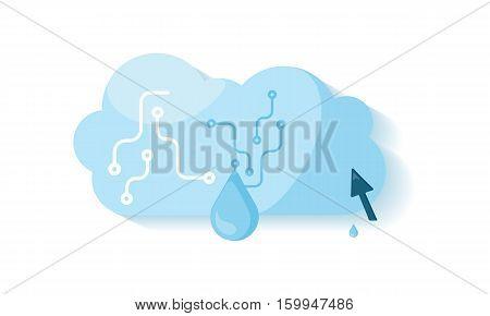 Global storage. Cloud storage. Global communication, data privacy, security and data stream, data backup, cloud computing, online storage, data storage, internet web illustration