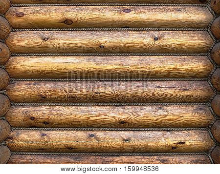 background of old log bong, wood pattern