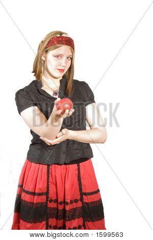 Girl Offering Apple