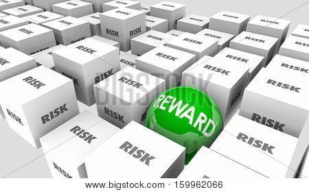 Risk Vs Reward Return On Investment Results Outcome 3d Illustration