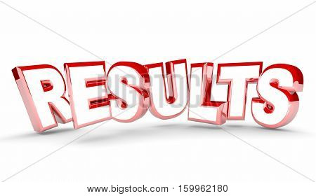 Results Outcome End Return on Investment Word 3d Illustration