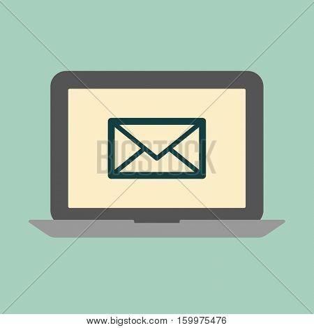 Laptop mail concept