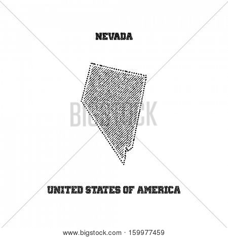 Label with map of nevada. Vector illustration.