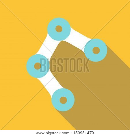 Bike chain icon. Flat illustration of bike chain vector icon for web