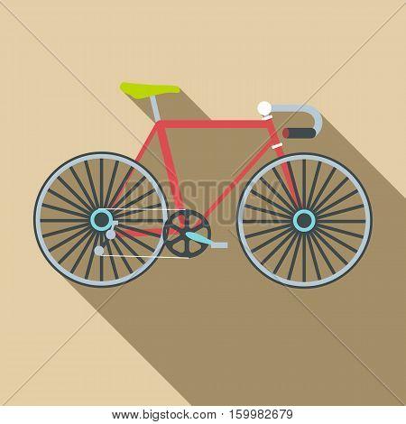 Bike icon. Flat illustration of bike vector icon for web