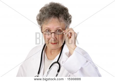 Mature Female Doctor Serious