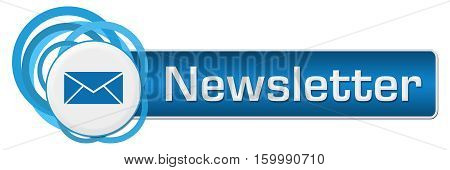 Newsletter concept image with text and envelope symbol.
