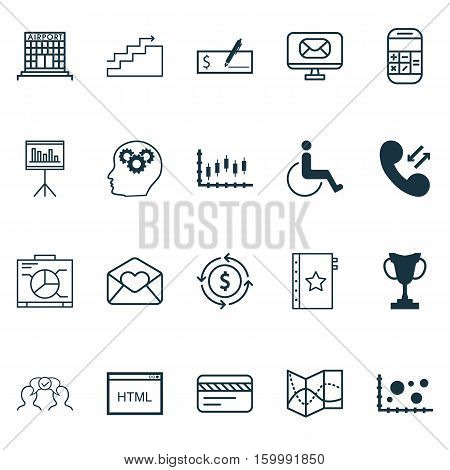 Set Of 20 Universal Editable Icons. Can Be Used For Web, Mobile And App Design. Includes Elements Such As Cellular Data, Accessibility, Bank Card And More.