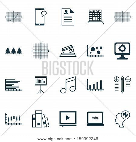 Set Of 20 Universal Editable Icons. Can Be Used For Web, Mobile And App Design. Includes Elements Such As Holiday Ornament, Library, Square Diagram And More.