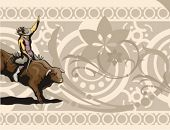picture of bareback  - Western Rodeo Background Series - JPG