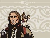 picture of cree  - Western Indian Background Series - JPG
