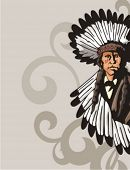 pic of cree  - Western Indian Background Series - JPG