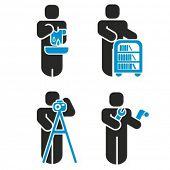 Постер, плакат: Набор из 4 серии иконок профессии Проверьте мое портфолио для гораздо больше из этой серии