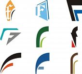 Alphabetical Logo Design Concepts. Letter F. Check my portfolio for more of this series.