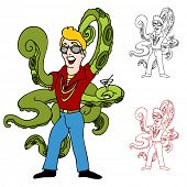 stock photo of swinger  - An image of a swinger with octopus arms - JPG