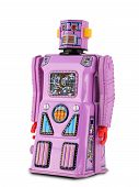 Lavender Tin Toy Robot