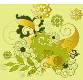 paisley background design vector