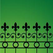 Постер, плакат: забор из кованого железа с Флер де Лис