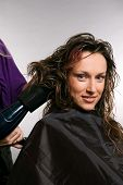 pic of hair blowing  - hairdresser blow - JPG