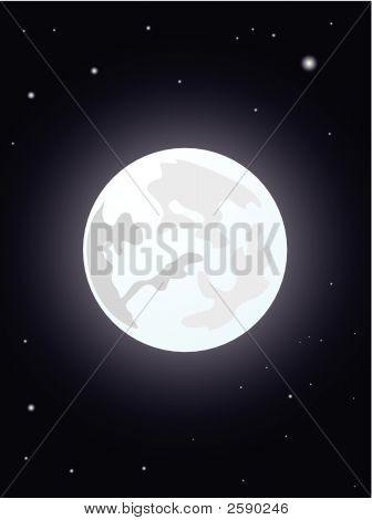 Moon Night Illustration