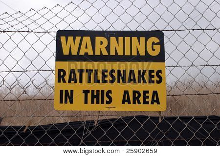warning RATTLESNAKES sign