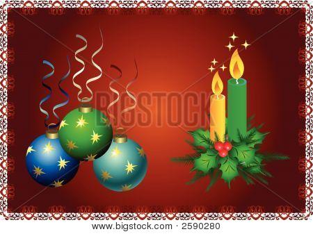 Christmas Ball End Candle