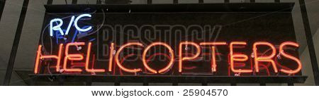 Neon Sign series r/c helicopters