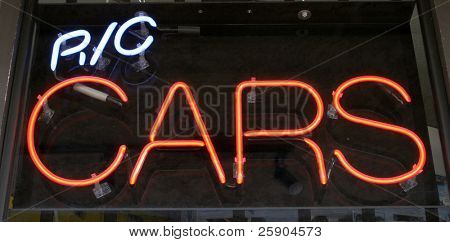 Neon Sign series r/c cars