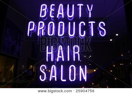 "Neon Sign series  ""beauty products, hair salon"""