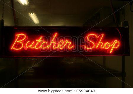 """neon sign series"" ""butcher shop"""