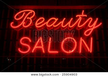 """neon sign"" series ""beauty salon"""