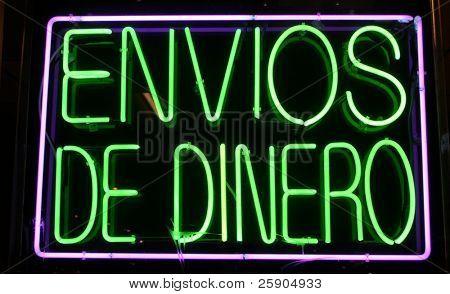 """""""neon sign"""" series """"envios De Dinero"""""""