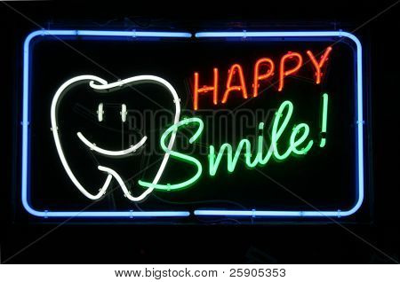 "Neon Sign Series ""happy smile"""