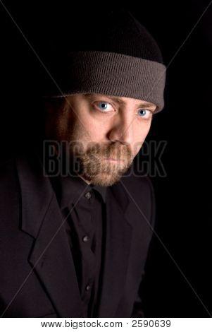Man In Knit Hat