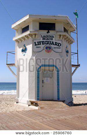 World Famous Laguna Beach California Life Guard Station