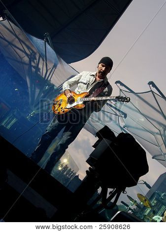 The Edge, U2 guitar player, live in Berlin