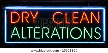 "Neon Sign Series ""Dry Clean, Alterations"""