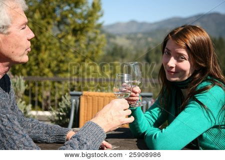 a couple enjoys a day of wine tasting in Napa Valley California